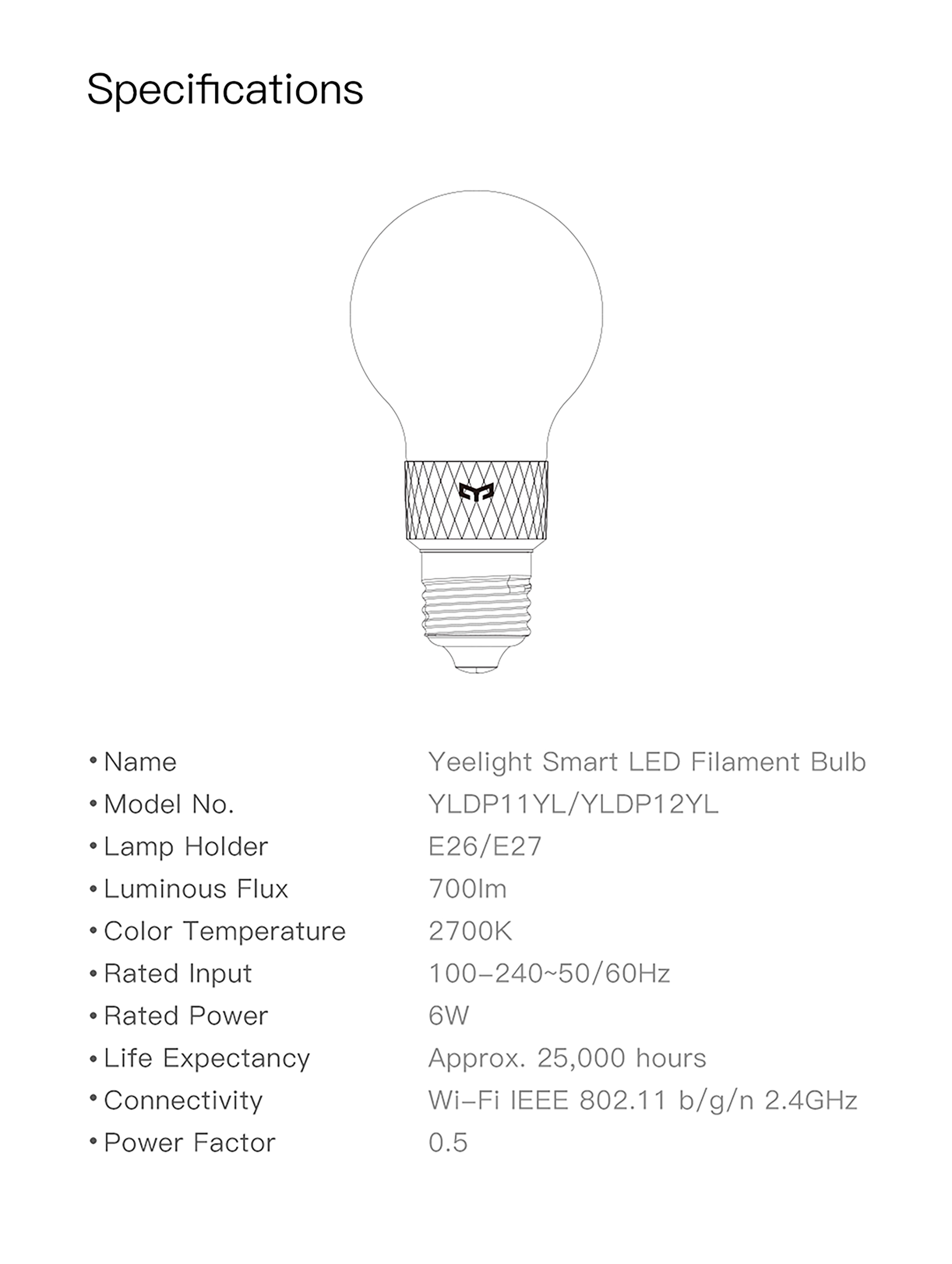 Yeelight Smart LED Filament Bulb
